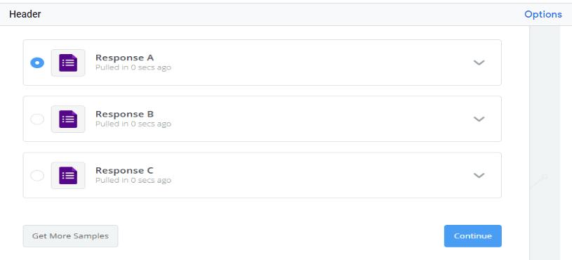 list of response
