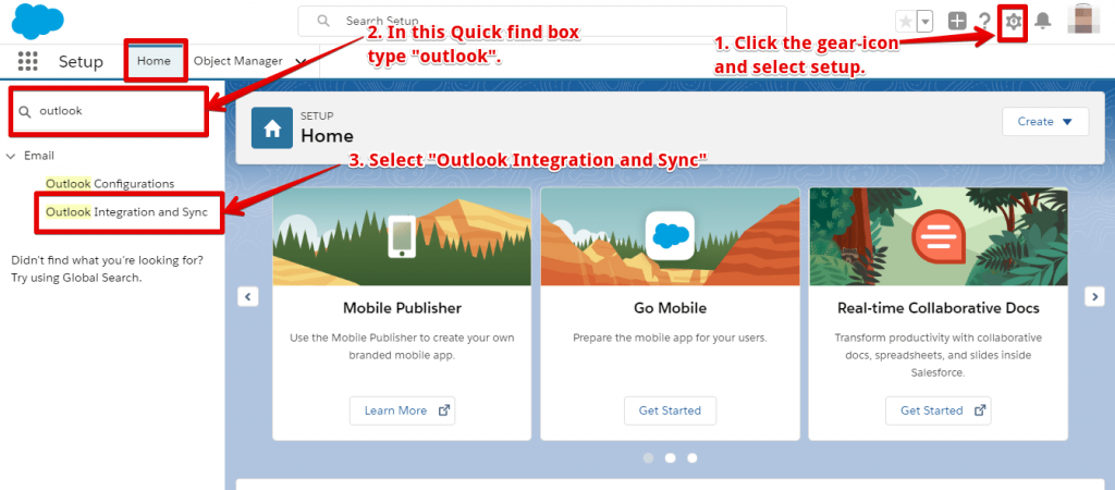 Steps to integrate Outlook and Salesforce