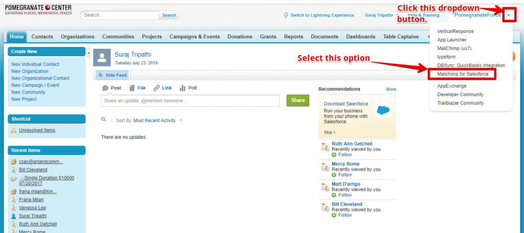Mailchip Integration With Salesforce6