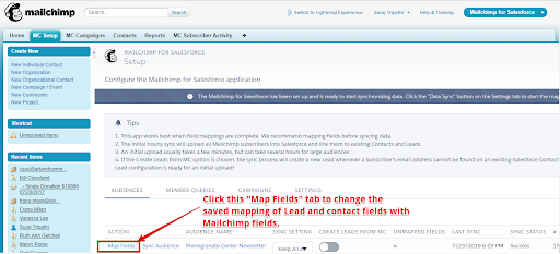 Mailchip integration with email sender