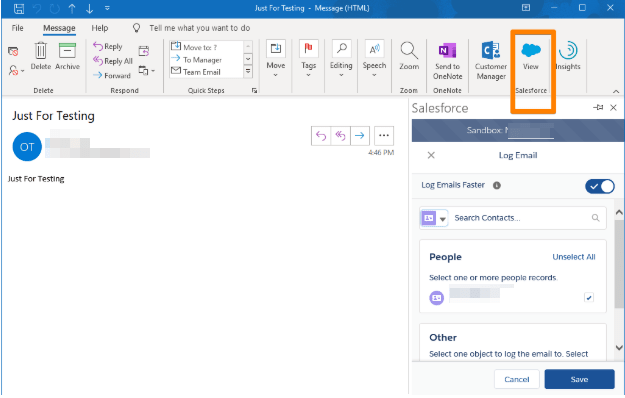 Add Email without Contact in Salesforce