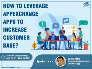 Upcoming Webinar: Leverage AppExchange Apps to Increase Customer Base
